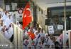 توديع قافلة حجاج تركيا الأولى لهذا العام من مطار اسطنبول