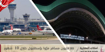 80 مليون مسافر مرّوا بإسطنبول خلال 10 شهور!