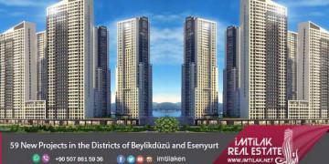 59 Nouveaux projets à Beylikduzu et Esenyurt à Istanbul
