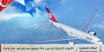الأجواء التركية تزدحم بـ 195 مليون مسافر في عام واحد!