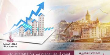 ارتفاع أسعار العقارات في تركيا 15% خلال عام