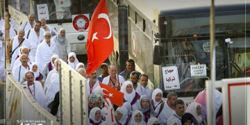 A Farewell to the First Convoy of Turkish Pilgrims from Istanbul Airport
