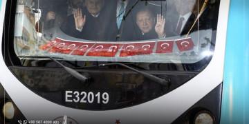 بحضور أردوغان: افتتاح خط المترو الجديد في اسطنبول