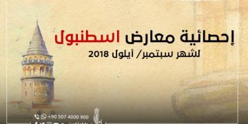 معارض إسطنبول لشهر سبتمبر/ أيلول 2018