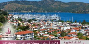 ارتفاع أسعار الصيفيات في أنطاليا بنسبة 22%
