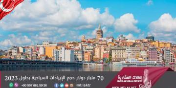 70 مليار دولار حجم الإيرادات السياحية بحلول 2023