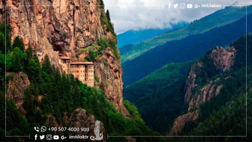 The famous Soumela Monastery in Trabzon