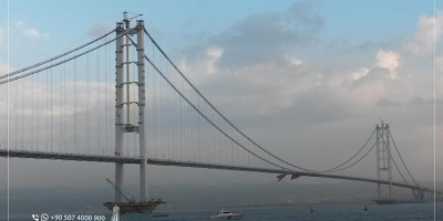 Osman Ghazi Bridge the Fourth Longest Suspended Bridge in the World: From Istanbul to Izmir within 3 Hours