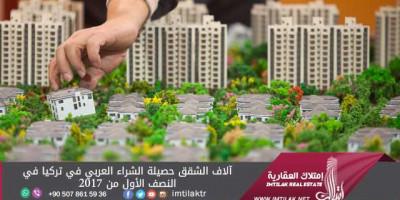 آلاف الشقق حصيلة الشراء العربي في تركيا في النصف الأول من 2017
