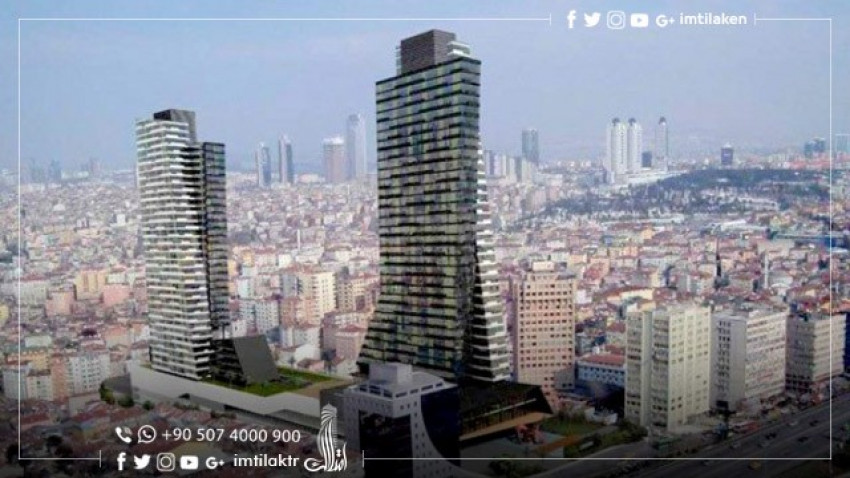 Istanbul's High-Rise Areas with Seascape