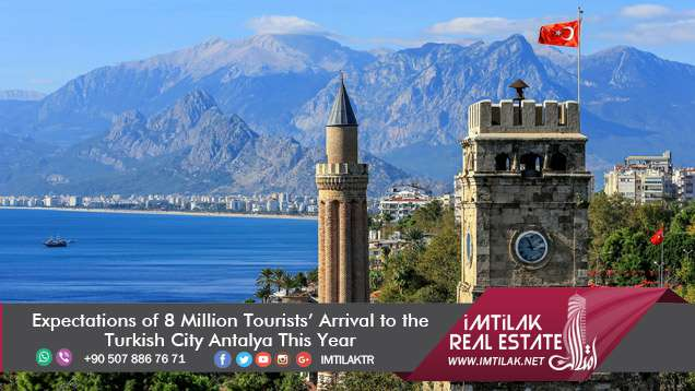Expectations of 8 Million Tourists' Arrival to the Turkish City Antalya This Year