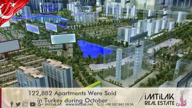 122,882  Apartments Were Sold in Turkey during October