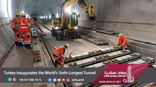 Turkey Inaugurates the World's Sixth-Longest Tunnel in istanbul