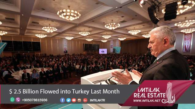 $ 2.5 Billion Flowed into Turkey Last Month