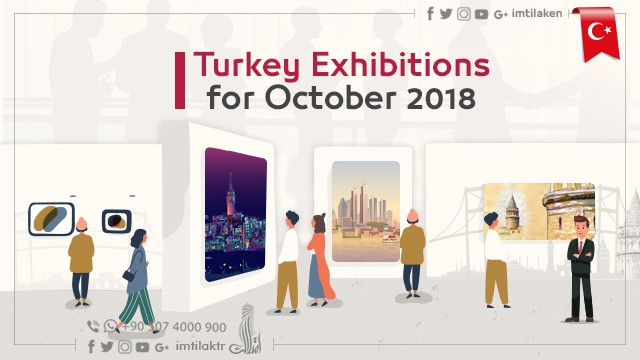 Exhibitions in Turkey for October 2018