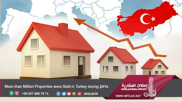 More than Million Properties were Sold in Turkey during 2016