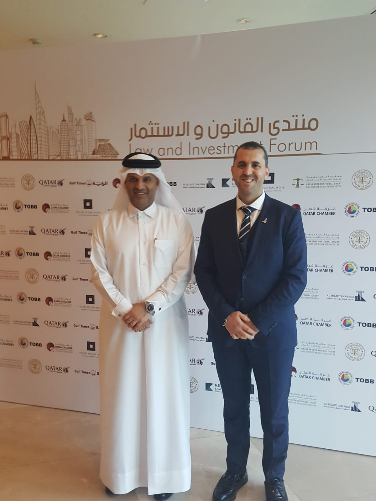 Imtilak Group representative with His Excellency Dr. Thani Bin Ali Al Thani