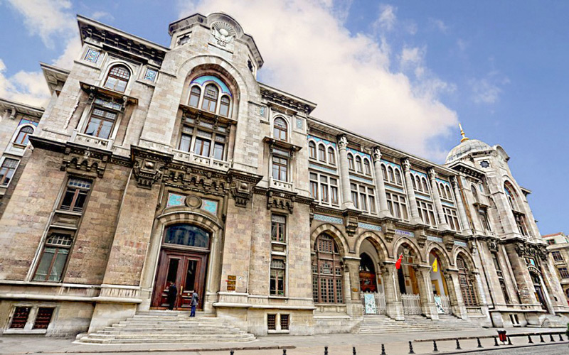 The Big Post office Ptt is in Sirkeci-Istanbul