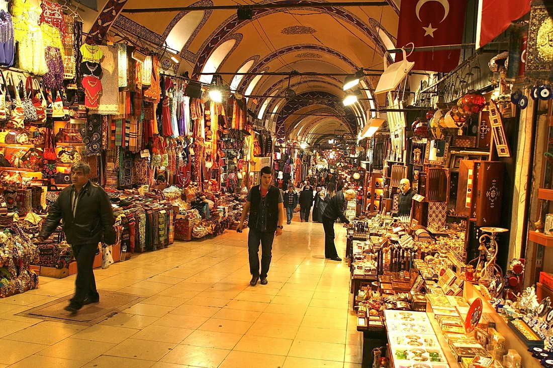 The closed market in Istanbul