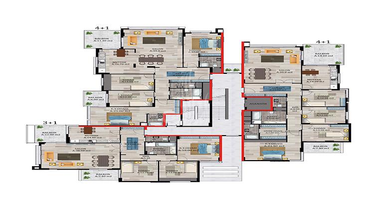 IMT-34 Len projet Résidences de Konaklar